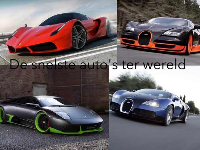 De Snelste Auto's Ter Wereld by Gamemeneer Don