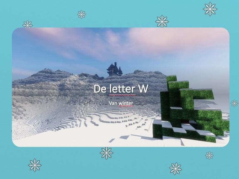 De W van winter by marloes glorie