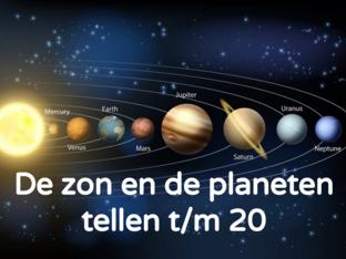 De zon en de planeten tellen t/m 20 by ilonka de bruijn