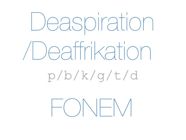Deasp/Deaffrik /p b k g t d/ FONEM - www.MinKusineMaria.dk by Min Kusine Maria