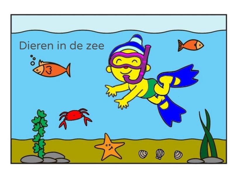 Dieren in de zee (klein wit visje)  by Marian van Roosmalen