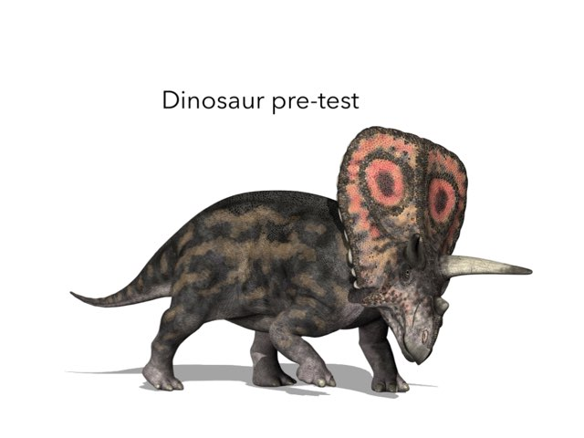 Dinosaur Pre-Test by George awrahim