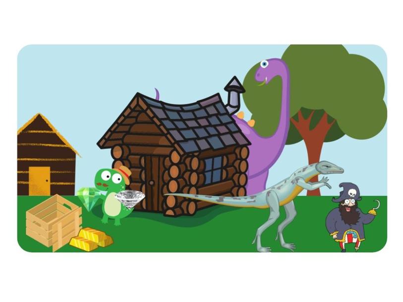 Dinosaur Story by Lauren Hamilton Saez
