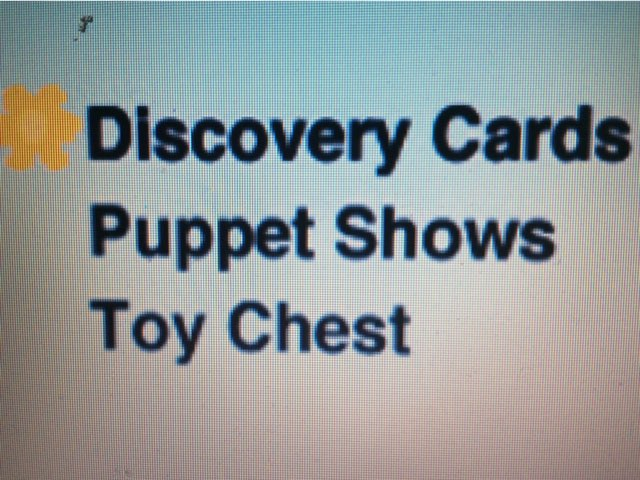 Discovery Cards Puppet Shows Toy Chest by Adriano Scotti