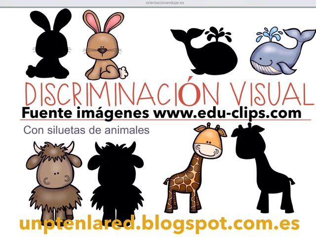 Discriminacion Visual Con Siluetas De Animales. by Jose Sanchez Ureña