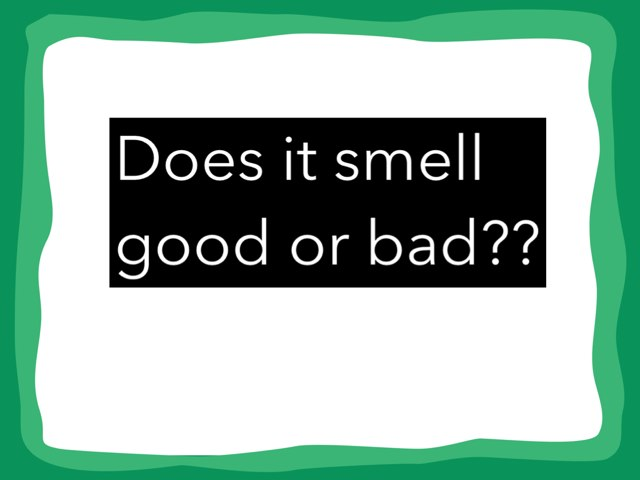 Does This Smell Good Or Bad? by Federica Carulli
