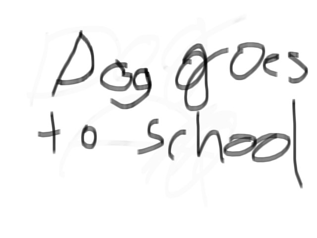 Dog Goes To School by Mi Guerra