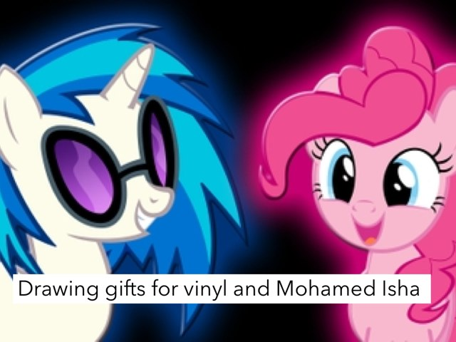 Drawing Gifts For Vinyl And Mohamed Isha by Fluffy Da rabbit
