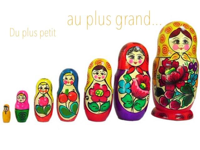 Du Plus Petit Au Plus Grand by Alice Turpin