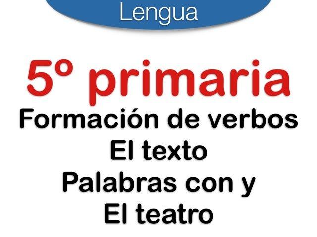 Formación verbos . Textos by Elysia Edu