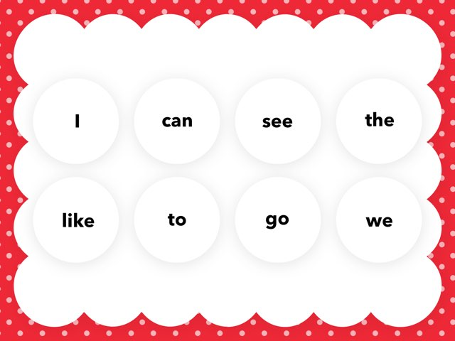Sight Words White List by Lorene Himpelmann