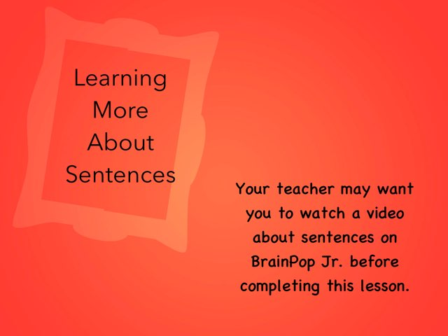 Learning About Sentences by Christine Snow
