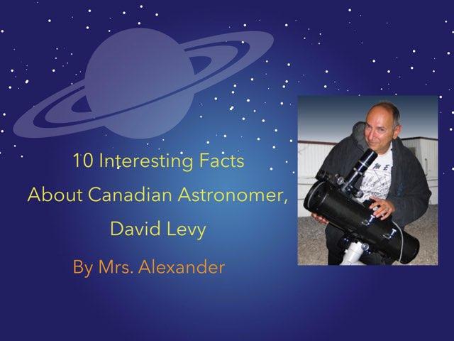 David Levy, Canadian Astronomer by Jennifer Alexander