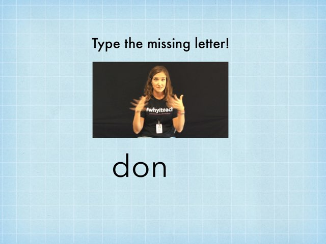Dolch 3rd Grade -- Missing Letter by TSD Library