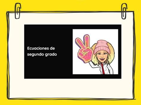 Ecuaciones de segundo grado completas. Discriminante. by M Ana López Montes