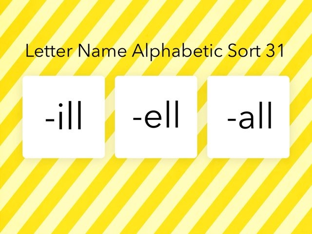 Letter Name Alphabetic Sort 31 by Erin Moody