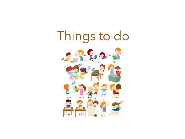 Things To Do by Carina Sheppard