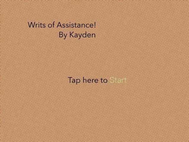 Writs Of Assistance by John Ferrero