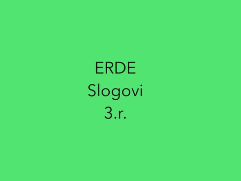 ERDE Slogovi 3.r. by natasa delac