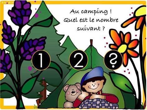 Au Camping - Quel est le nombre suivant? by Yara Habanbou