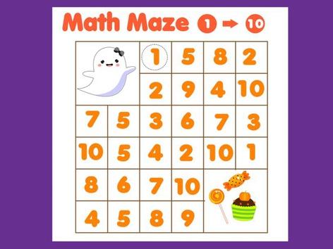 Laberinto de Matemáticas 1-10 by Hadi  Oyna