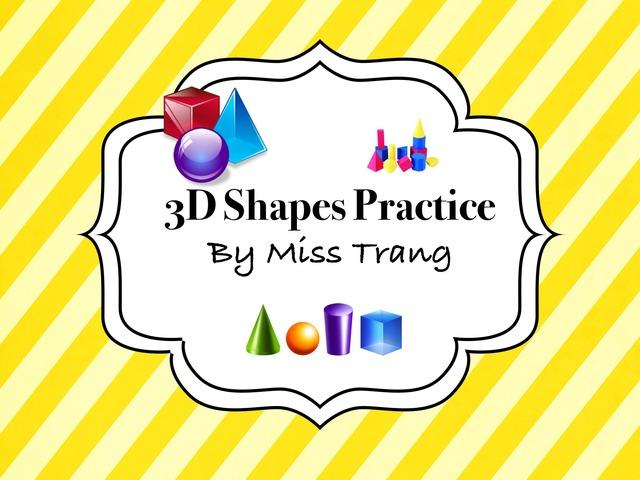 3D Shapes Practice by Trang Quỳnh