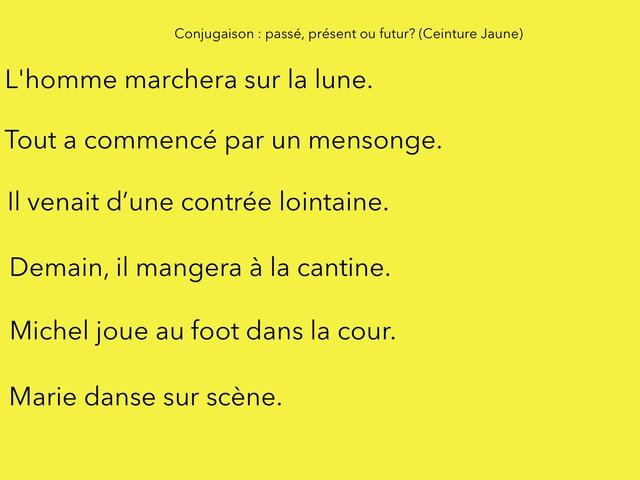Conjugaison Ceinture  Jaune 1 by Mon Sieur