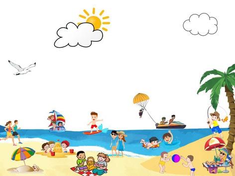 Beach Action Scene by Madonna Nilsen