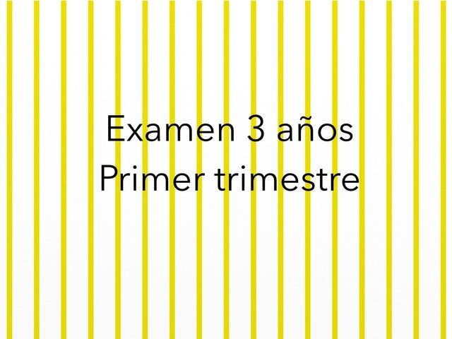Examen 1er T 3años  by Mayte Jerez