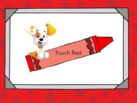 Touch Color red by Anna Williams