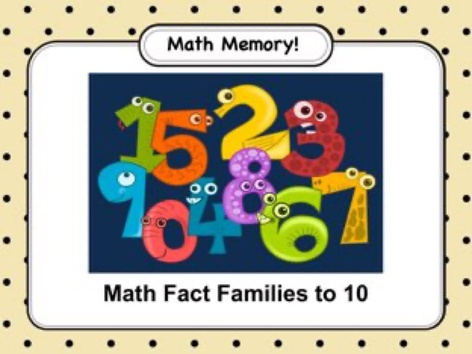 Math Memory - Facts To 10 by Ellen Weber
