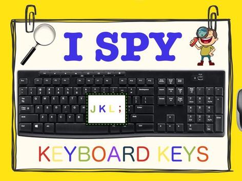 I SPY: Keyboard Keys - J, K, L, ; by Jasmine Shelton