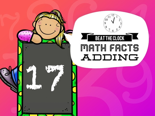 Beat The Clock - Adding To 17 by Ellen Weber