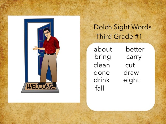 Dolch Sight Words: Third Grade #1 by Carol Smith