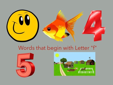 Initial F Word Level by Carol Smith