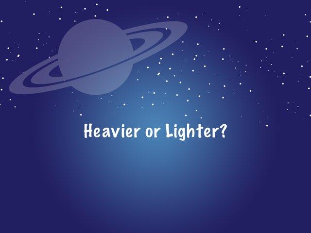 Heavier or Lighter by Kirsten Re