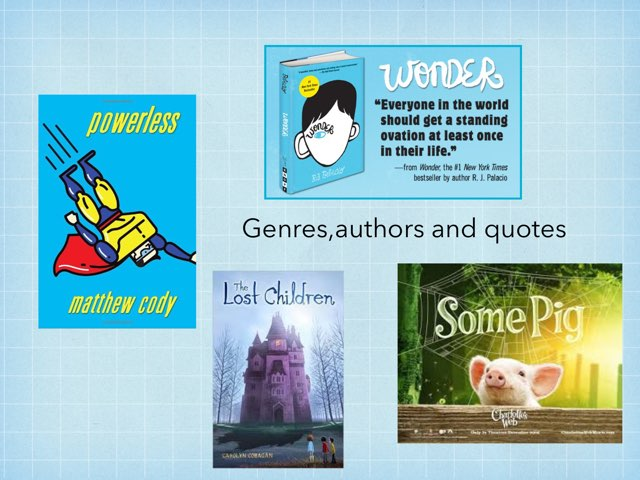 Genres,authors,and Quots by Frances Chapin