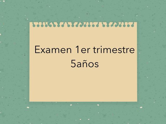 Examen 1er Trimestre 5años  by Mayte Jerez