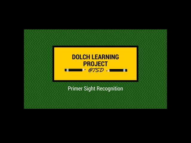 Word ID 3: Dolch Primer by TSD Library