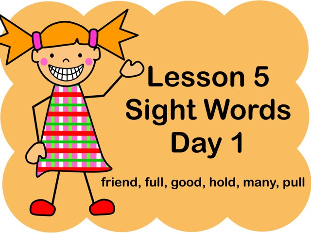 Lesson 5 Sight Words - Day 5 by Jennifer