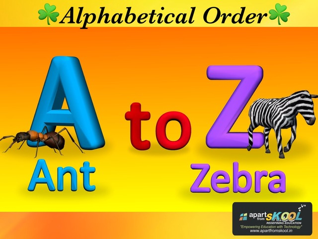 Alphabetical Order  by TinyTap creator