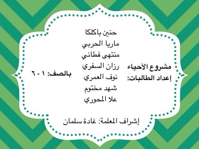 مشروع الأحياء by hab 22