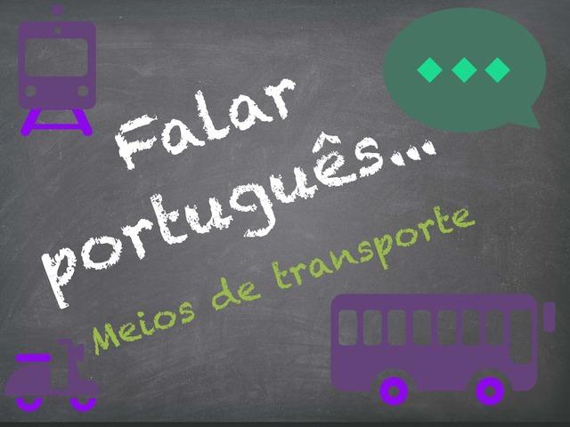 Falar Português (meios de transporte) by Inês Ruxa