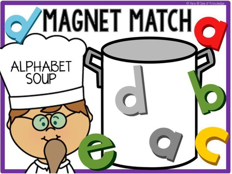 Alphabet Soup Letter Identification and Matching (EN UK) by Yara Habanbou