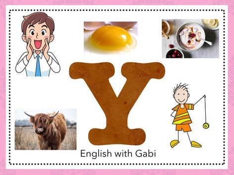 Letter Y: Learning Letter Sounds  by English with Gabi אנגלית עם גבי