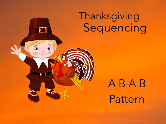 Sequencing: ABAB (Thanksgiving) by Carol Smith