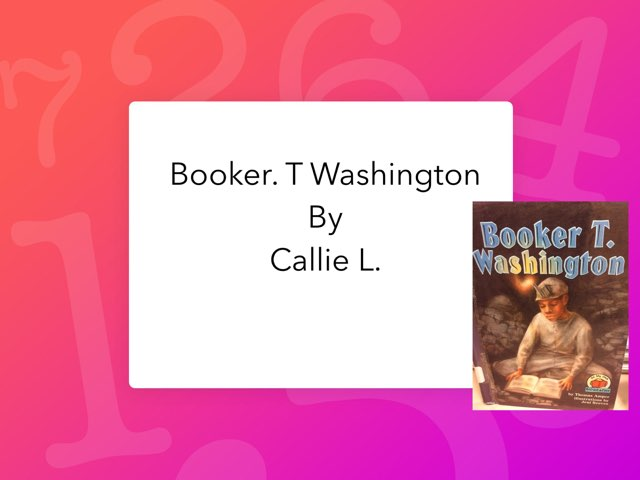 Booker. T Washington By Callie  by Christine Snow