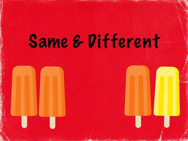 Same & Different  by Karen Souter