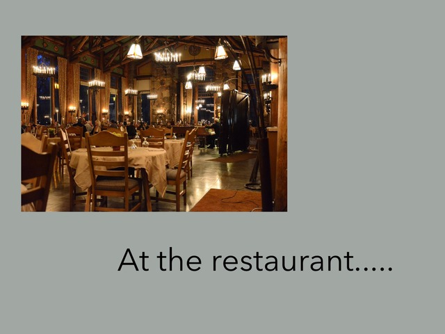 Restaurant Vocabulary  by Carol Smith