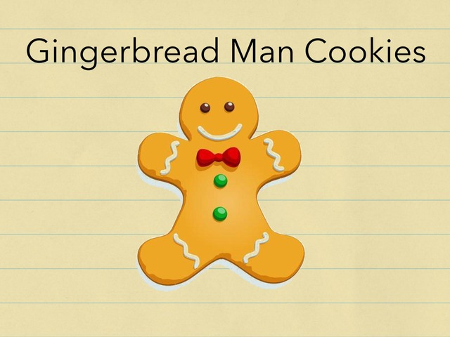 Gingerbread Men by Vision Teacher
